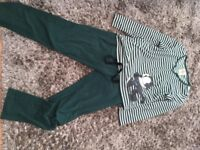 Green fleece PJ's, size M (Size 10). £1.50, torquay or can post.