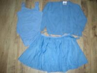 Girls Pale Blue Ballet Items for ages 9-10 years
