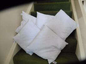 DUCK FEATHER CUSHIONS (x5) NEW & UNUSED