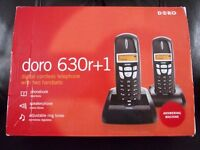 TELEPHONE & ANSWERPHONE. DORO 630r+1 - DIGITAL CORDLESS TELEPHONE WITH TWO HANDSETS