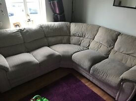 Corner sofa from a smoke and pet free home.