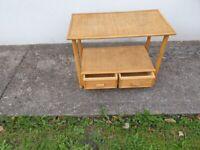 Bamboo side table/ Desk