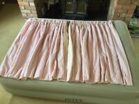 Laura Ashley Pink Gingham Interlined Curtains