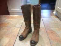 Clarke's leather brown boots