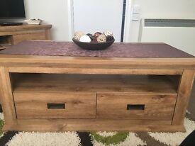 Oak affect coffee table