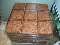 3 packes of tiles new brown