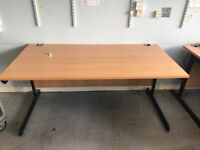 1600MM x800MM Straight Beech Pilot Desk