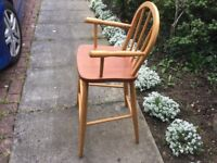 Wooden High Child's Chair