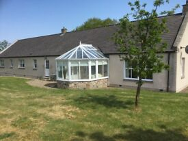 4 bedroom detached steading available for rent in lovely country setting, 2 miles west of Ellon.