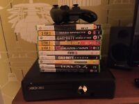 250GB XBOX 360 + 10 GREAT GAMES