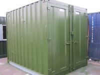 USED 10ft x 8ft High Security Site Storage Shipping Container FOR SALE ONLY £1995+VAT portable cabin