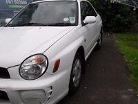 2001 subaru impreza non turbo model. Very tidy car. May px