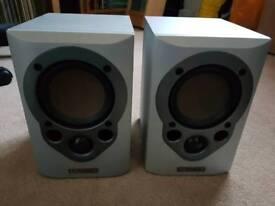 Mission M30 bookshelf speakers silver