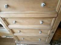 Tall waxed pine drawers