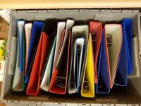 FREE - 20 Ring Binders A4 - many as new - some need spine labels -