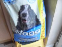 JUST OVER HALF A 15K BAG OF DOG FOOD WAGG CHICKEN & VEG CAN DELIVER ONLY £5 !