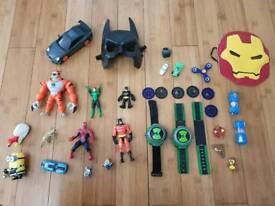 Kids super hero's action figures and cosplay