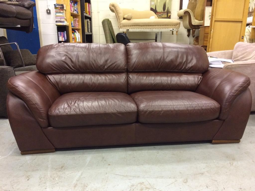 Italian designer real leather 3 seater sofa delivery available furniture centre