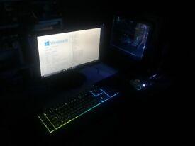 RGB Gaming PC, I7 3770k, GTX 970, 8GB RAM, SSD, HDD.