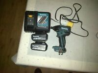 Makita brushless Impact drill BTD129Z 4.0ah battery x2, 110 Rapid charger