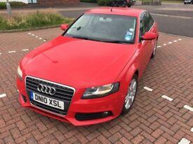Audi A4 in classic Red