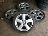 "GENUINE AUDI 18"" ALLOY WHEELS & TYRES 5X112 A3 A4 A6 TT VW CADDY T4 RS6 RS4 VITO SLINE"