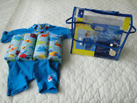 Zoggs sun protection float suit 1-2 years