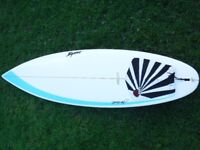 """Byrne Surfboard 6'5"""" Turflite with fins and board bag"""