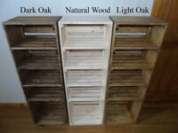MADE TO ORDER Handmade Rustic Style Wooden Shoe Cabinet/Rack- Many Colours and Sizes