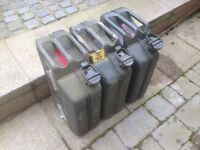 3 x Metal ex-military jerry cans