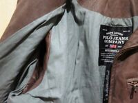 Vintage RALPH LAUREN Waterproof Leather Racer Jacket Brown Size S USA Imported