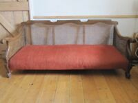 French Edwardian Bergere Sofa and 2 chairs.