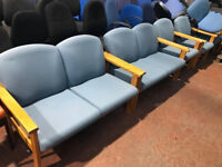 2 Seater Light Blue Reception Chairs