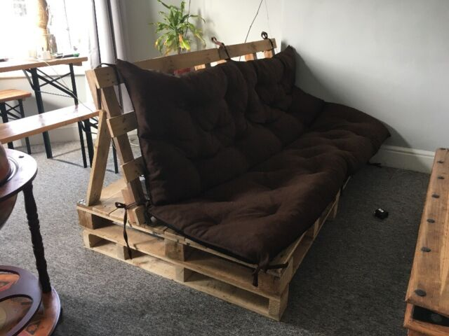 Pallet Sofa Easy To Move And Take Apart With Ed Cushion