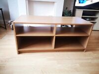 Wooden effect tv stand