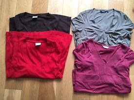 Maternity tops bundle x 4, size 12 long & short sleeves, Next, Mothercare, Debenhams