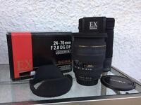 Sigma 24-70mm f2.8 EX lens