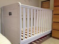 white john lewis cot bed with mattress £50