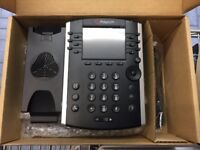 JOB LOT X3 BRAND NEW POLYCOM WX400 , SKYPE, POE PHONE