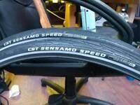 700x35c pair of Road Tyres CST Sensamo Speed