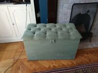 Green ottoman - ideal shoe/bedding storage
