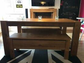 NEXT Hartford Extendable Dining Table & Benches