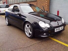 MERCEDES C220 CDI SPORT COUPE AMG STYLING 2006 PANORAMA EDITION
