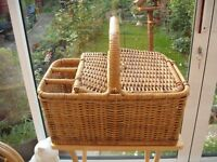Wicker Picnic Basket (good condition)