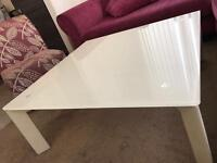 Square white high gloss Glass table modern contemporary design london