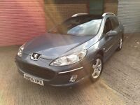 Peugeot 407 1.6 HDi quick Sale £550 ono estate clean car starts and drives well