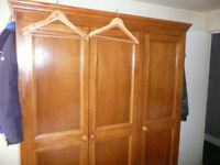 large triple solid wardrobe