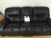 Real Leather 2 and 3 seaters sofas