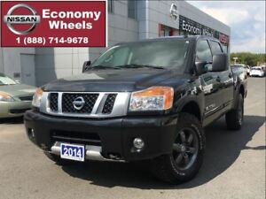 2014 Nissan Titan PRO-4X / Loaded One Owner / Leather