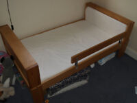WOODEN CHILDREN BED WITH MATRESS-IKEA -DISASSEMBLE
